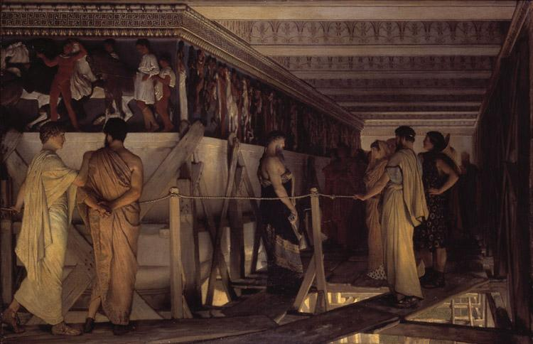 Alma-Tadema, Sir Lawrence Phidias Showing the Frieze of the Parthenon to his Friends (mk23) Sweden oil painting art