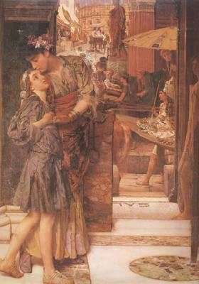 Alma-Tadema, Sir Lawrence The Parting Kiss (mk24) oil painting image