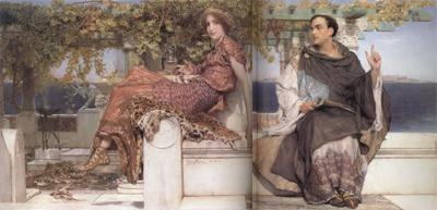 Alma-Tadema, Sir Lawrence The Conversion of Paula by Saint Jerome (mk23) oil painting image