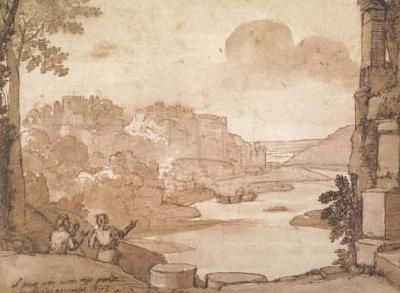 Claude Lorrain View of the Aventine in Rome (mk17) oil painting image