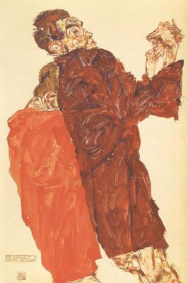 Egon Schiele The Truth Unveiled oil painting image