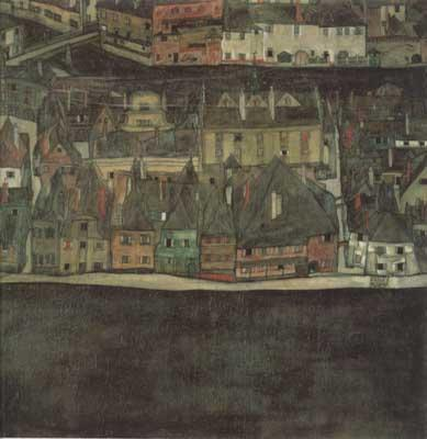 Egon Schiele The Samll city III (mk12) oil painting image