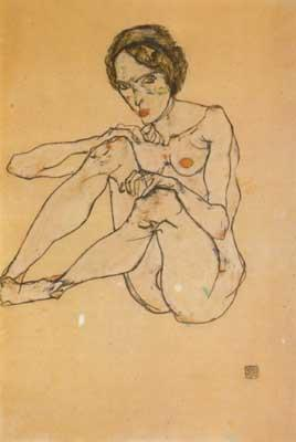 Egon Schiele Nude Woman (mk12) oil painting image