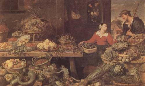 Frans Snyders Fruit and Vegetable Stall (mk14) oil painting image
