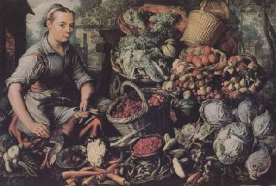 Joachim Beuckelaer Market Woman with Fruit,Vegetables and Poultry (mk14) oil painting image