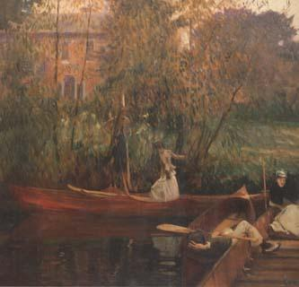 John Singer Sargent A Boating Party (mk18) oil painting image