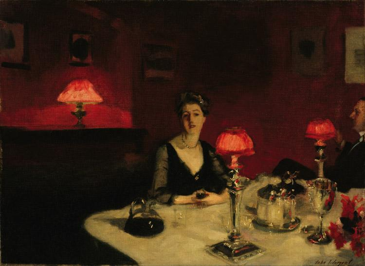 John Singer Sargent A Dinner Table at Night (The Glass of Claret) (mk18) oil painting image