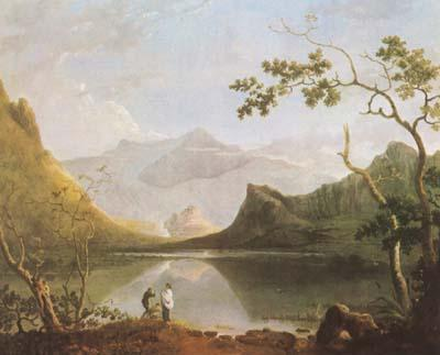 Richard  Wilson View of Snowdon from Llyn Nantlle (mk08) oil painting image