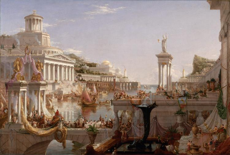Thomas Cole The Course of Empire: The Consummation of Empire (mk13) oil painting image
