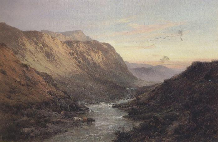 Alfred de breanski The shiel Valley (mk37) oil painting image