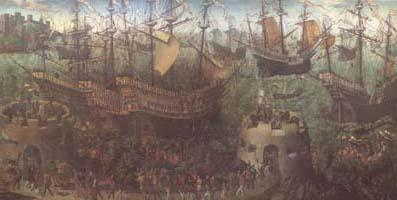 Anonymous The Embarkation of Henry VIII at Dover (mk25) oil painting image