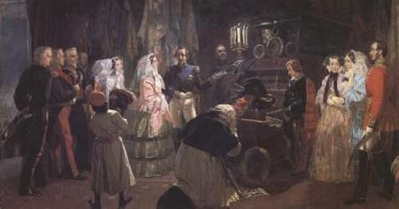 Edward Matthew Ward Queen Victoria at the Tomb of Napoleon (mk25) oil painting image