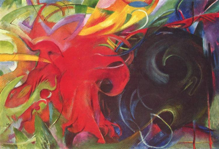 Franz Marc Fighting Forms (mk34) oil painting image