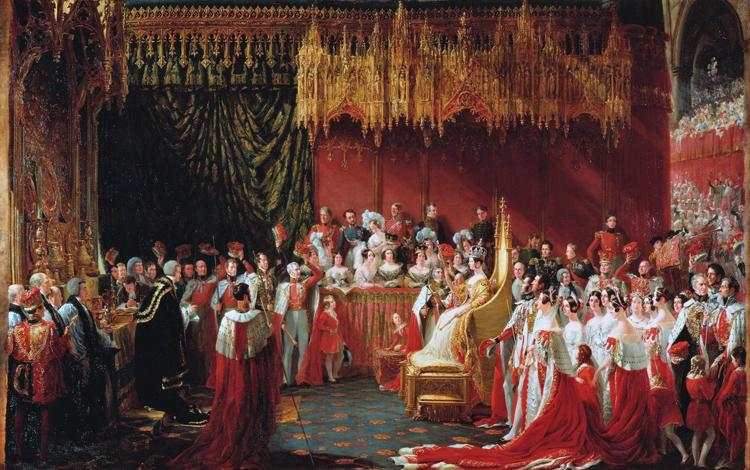 George Hayter The Coronation of Queen Victoria (mk25) Sweden oil painting art