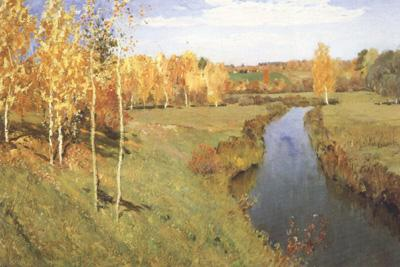 Isaac Ilich Levitan Golden Autumn (nn02) oil painting image