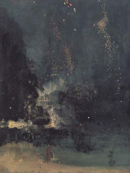James Mcneill Whistler Noc-turne in Black and Gold:the Falling Rocket (mk43) oil painting image