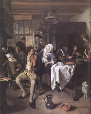 Jan Steen Interior of a Tavern (mk25 oil painting picture