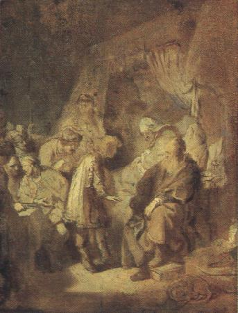 REMBRANDT Harmenszoon van Rijn Foseph Recounting his Dream (mk33_) oil painting image