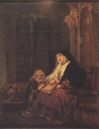 REMBRANDT Harmenszoon van Rijn Hannab in the Temple (mk33) oil painting image