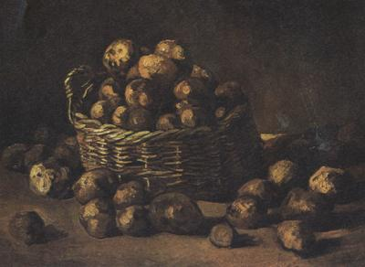 Vincent Van Gogh Still life with a Basket of Potatoes (nn04) oil painting image