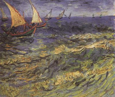 Vincent Van Gogh Seascape at Saintes-Maries (nn04) oil painting image