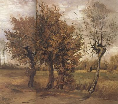 Vincent Van Gogh Autumn Landscape with Four Trees (nn04) oil painting image