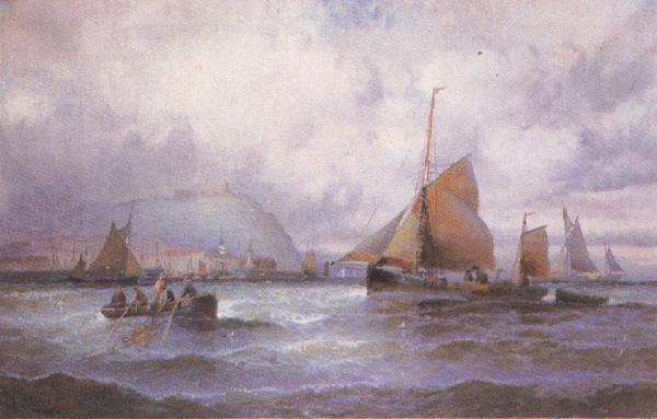 william a.thornbery Shipping off Scarborough (mk37) Sweden oil painting art