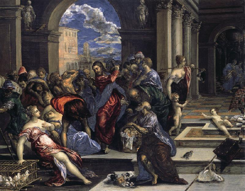 El Greco Purification of the Temple oil painting picture