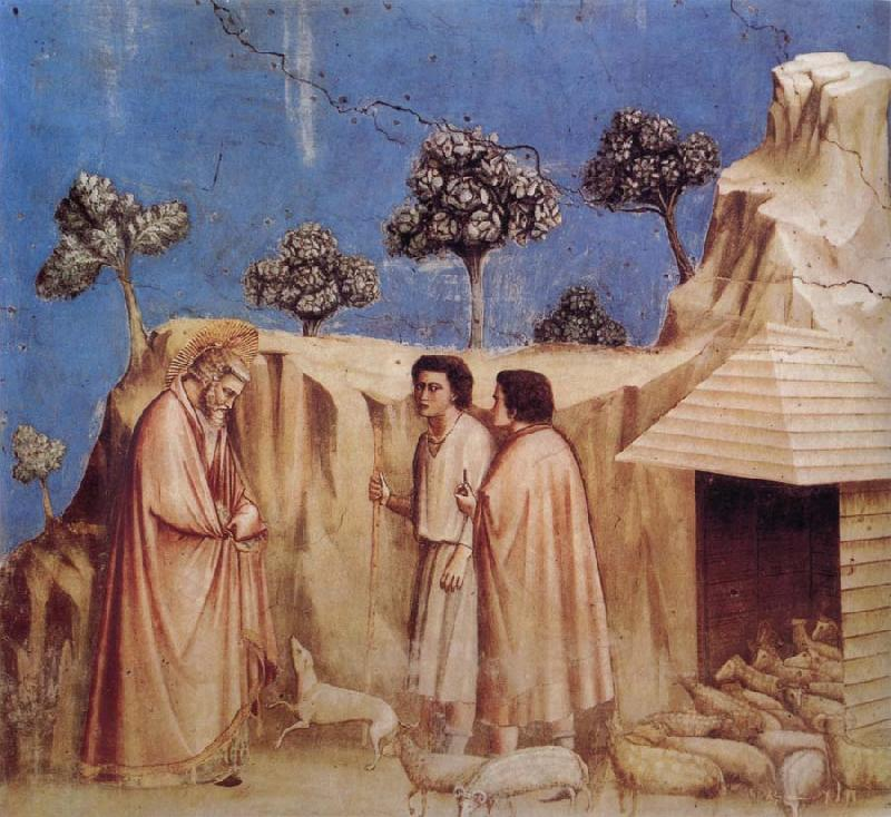 GIOTTO di Bondone Joachim Takes Refuge in the Wilderness oil painting picture