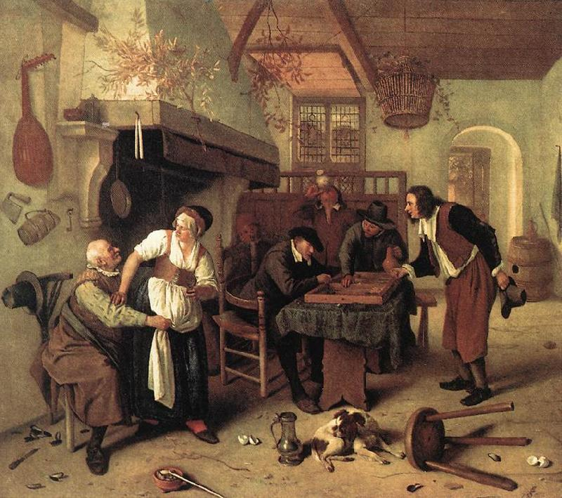 Jan Steen In the Tavern oil painting image