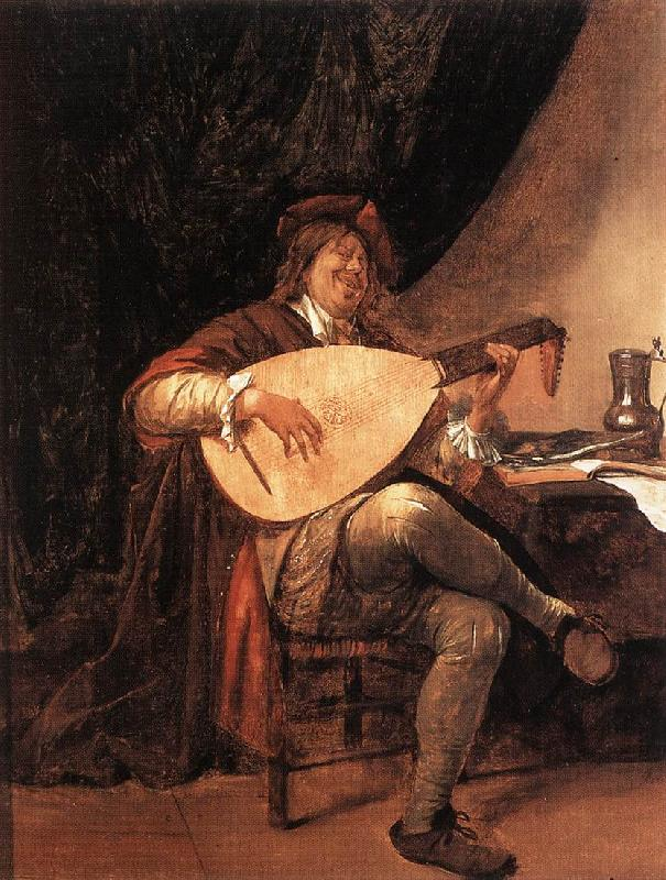 Jan Steen Self-Portrait as a Lutenist oil painting image