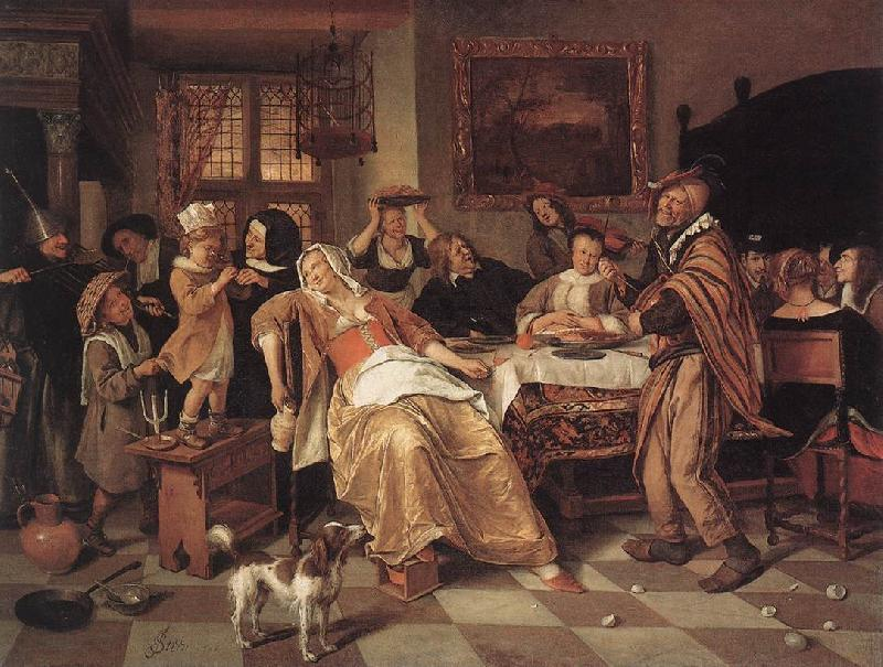 Jan Steen The Bean Feast oil painting picture