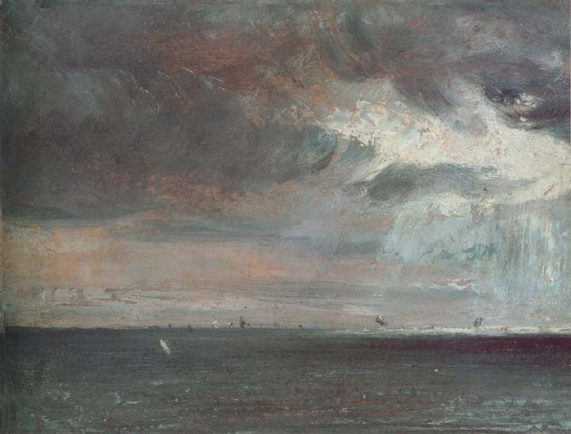 John Constable A storm off the coast of Brighton oil painting image