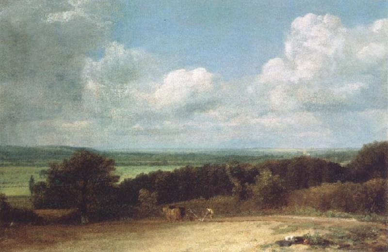 John Constable A ploughing scene in Suffolk oil painting image