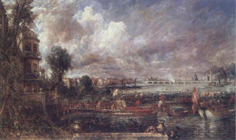 John Constable The Opening of Wateloo Bridge oil painting image