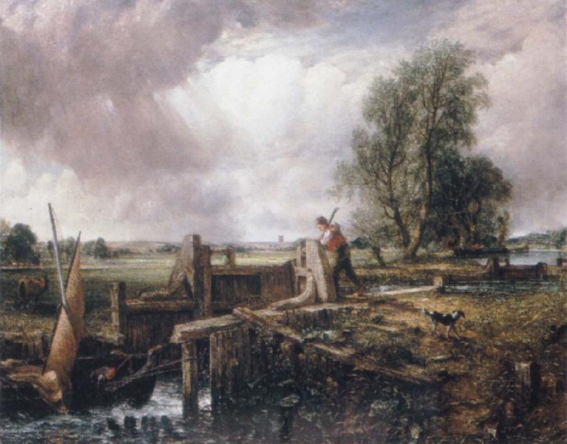 John Constable A voat passing a lock Sweden oil painting art