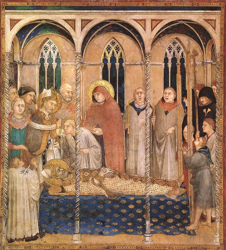 Simone Martini Burial of St Martin oil painting image