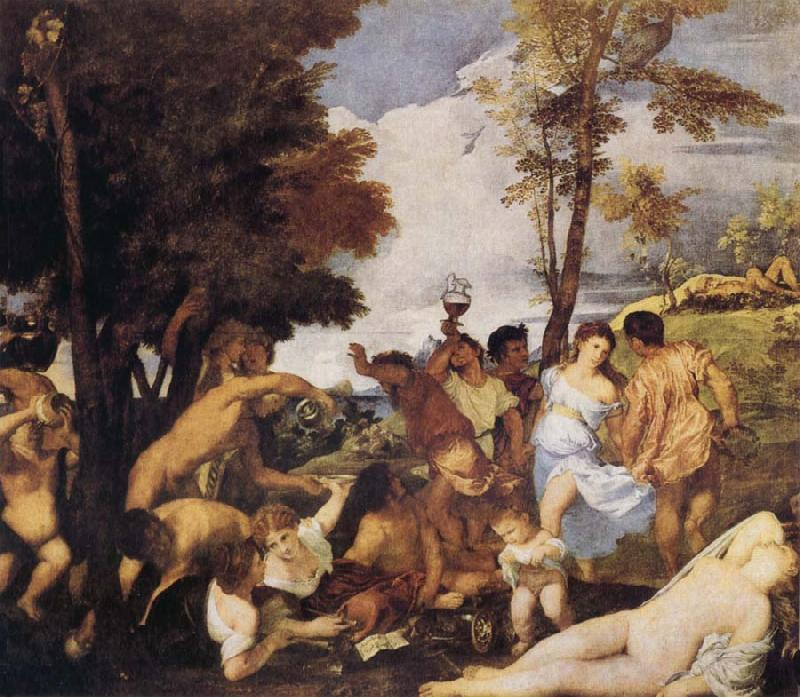 Titian Bacchanalia oil painting picture